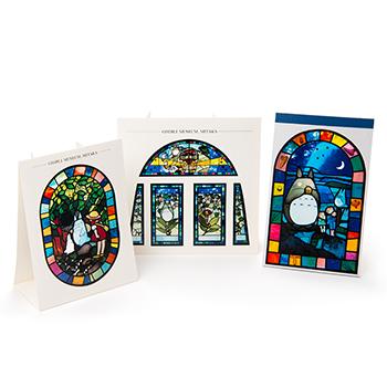ジブリ美術館オリジナル ステンドグラス となりのトトロセット