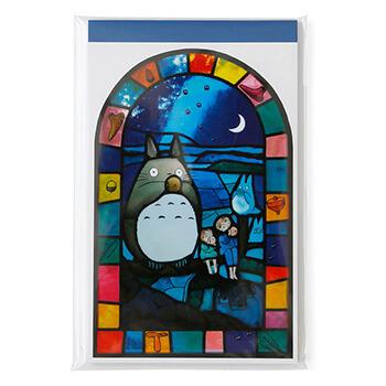 ジブリ美術館ステンドグラス 一筆箋 「オカリナトトロ」