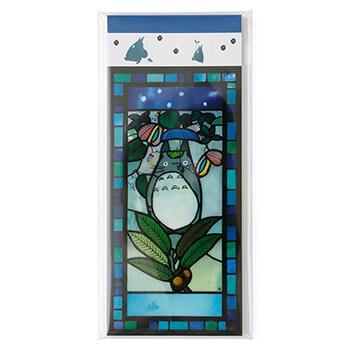 ジブリ美術館ステンドグラス 一筆箋 「傘トトロ」