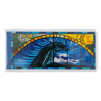 ジブリ美術館ステンドグラス 一筆箋 「もののけ姫」