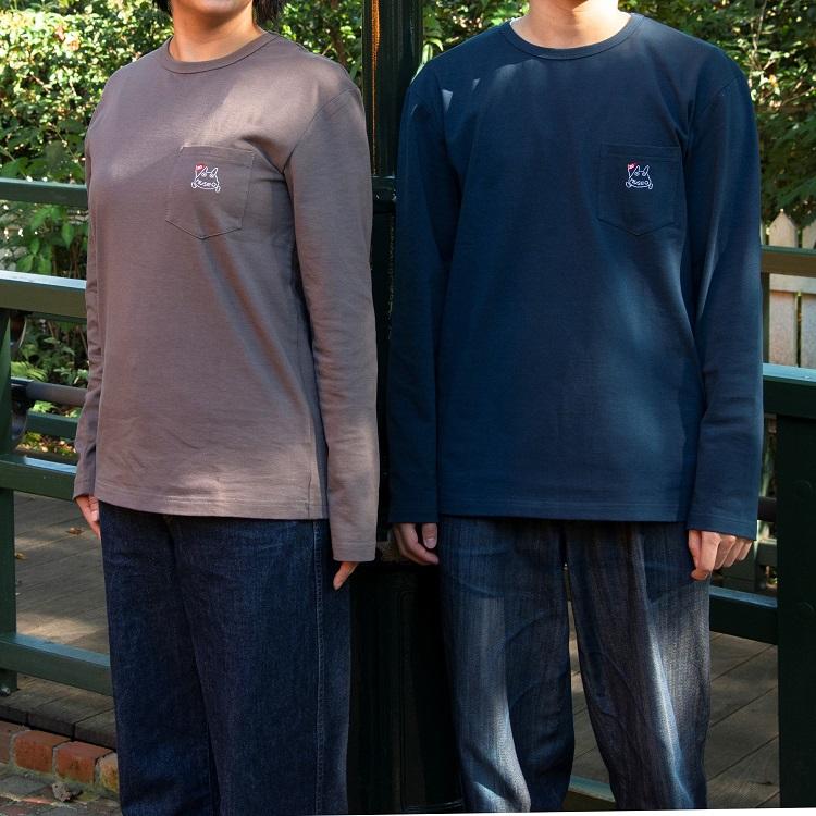 左:Mサイズ着用/モデル165cm<br>右:Lサイズ着用/モデル170cm